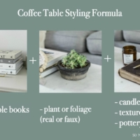 Easy Formula for Coffee Table Styling