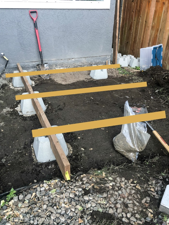 Photo of joists getting ready to build deck.