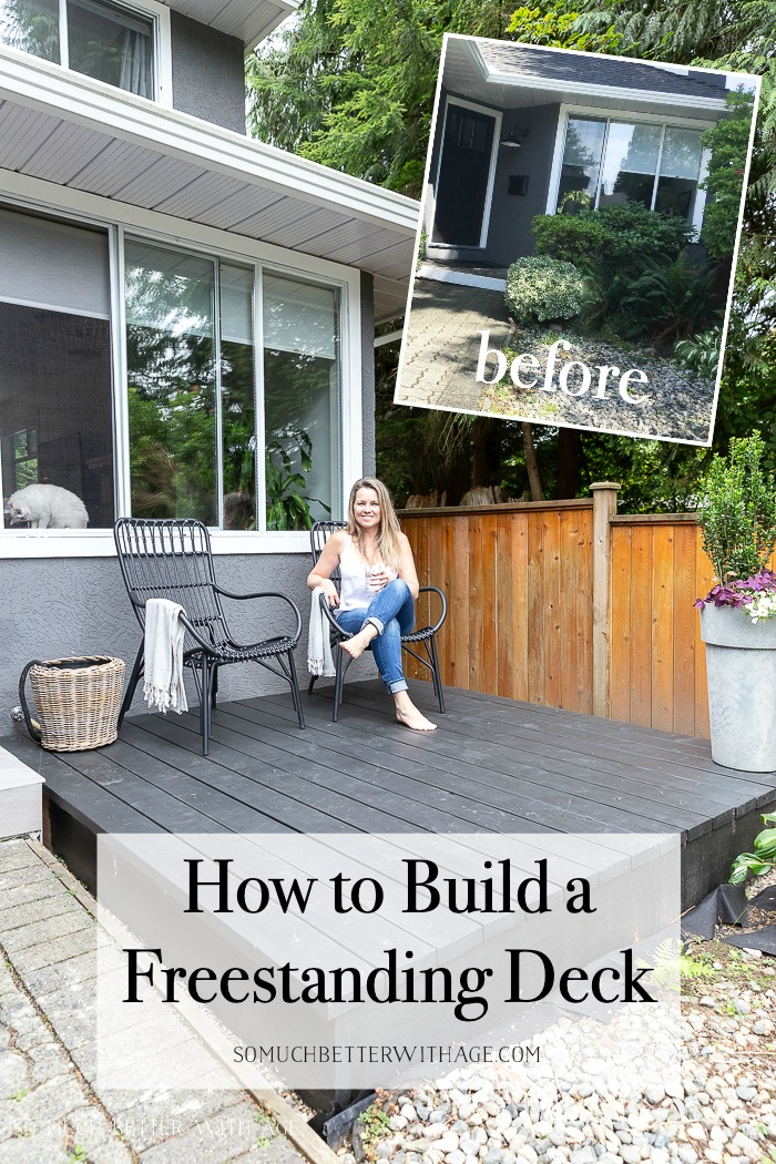 How to Build a Freestanding Deck graphic.