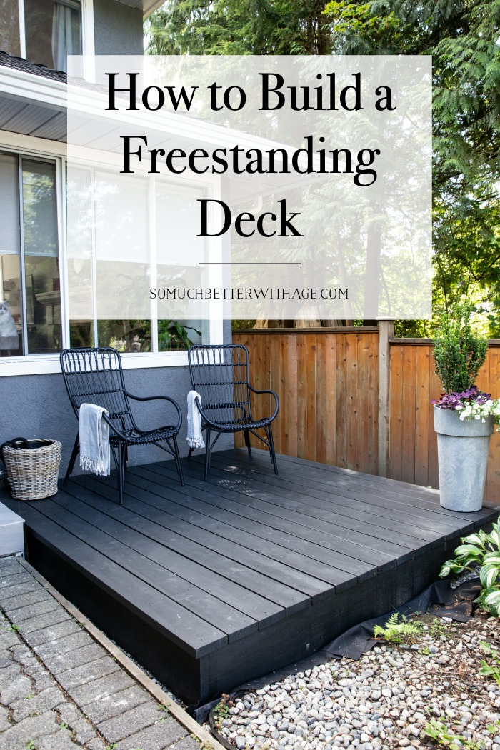 How to Build a Freestanding Deck.