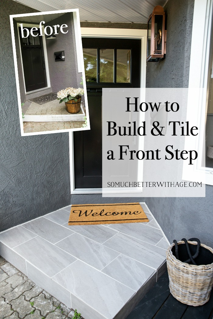 How to Build and Tile a Front Step.