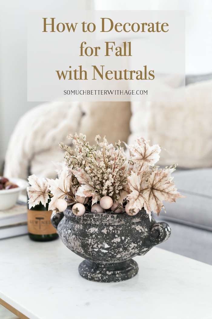 How to Decorate for Fall with Neutrals.