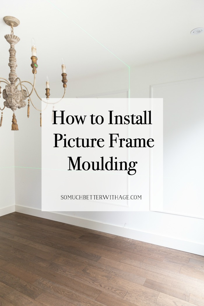 How to install picture frame moulding.