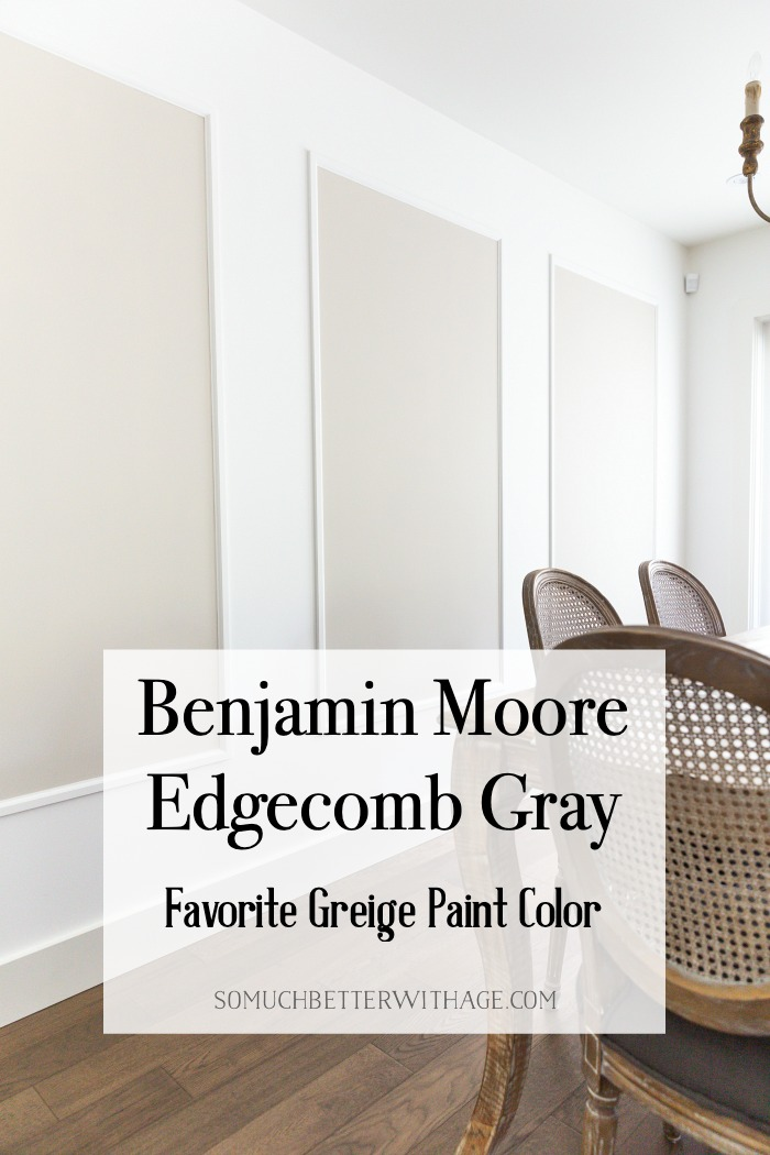 Benjamin Moore Edgecomb Gray Favorite Greige Paint Color.