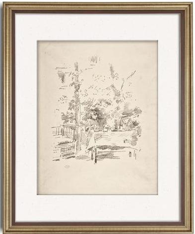 Blue Jay Vintage Art - antique Victorian art sketch.