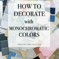 Achromatic, Analogous and Monochromatic Color Schemes for Decorating