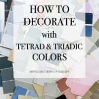 Split Complementary, Tetrad, Triadic and Clash Color Schemes for Decorating