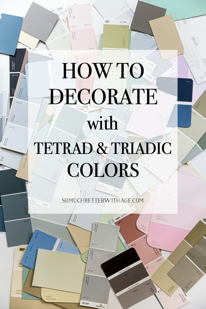 How to decorate with tetrad and triadic colors.