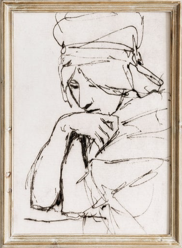 North Prints - antique portrait sketch.