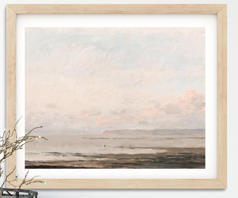 Vintage Wall Print FR - seascape painting.