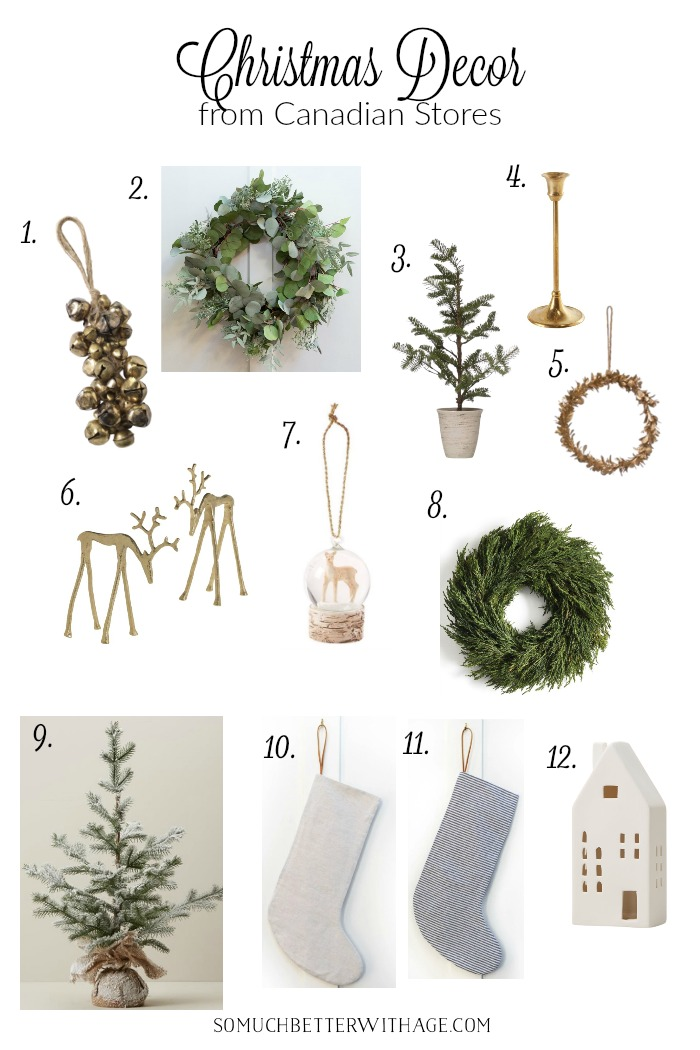 Christmas decor from Canadian stores.