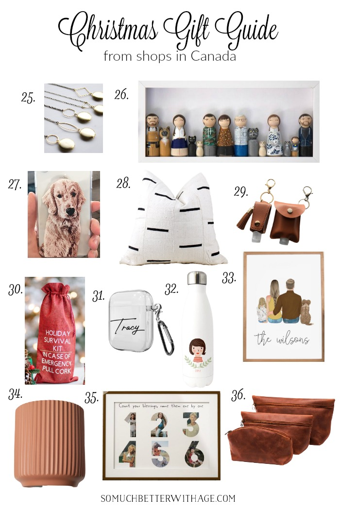 Christmas gift guide from small businesses in Canada.