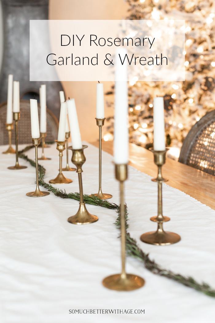 DIY rosemary garland and wreath.