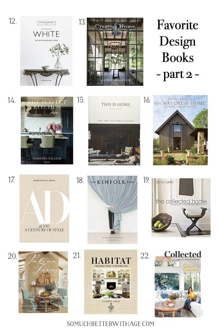 Livros favoritos de design de interiores, parte 2.