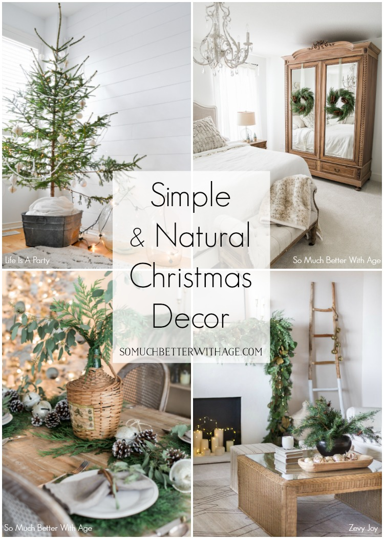 Simple and natural Christmas decor.