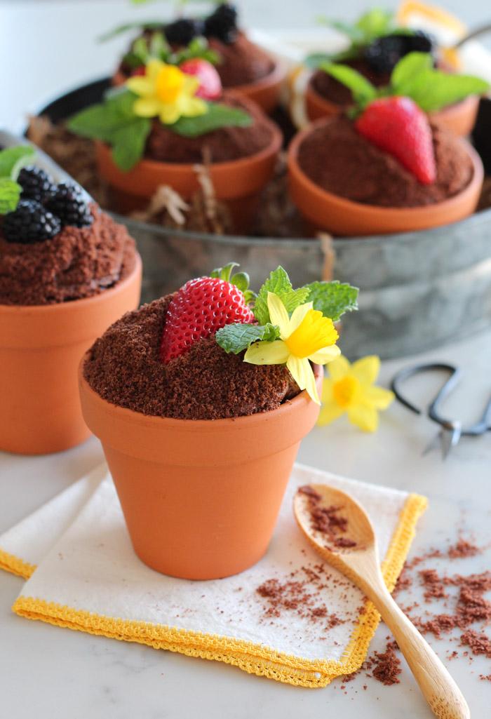 Spring flower pot cakes by Satori Design for Living.