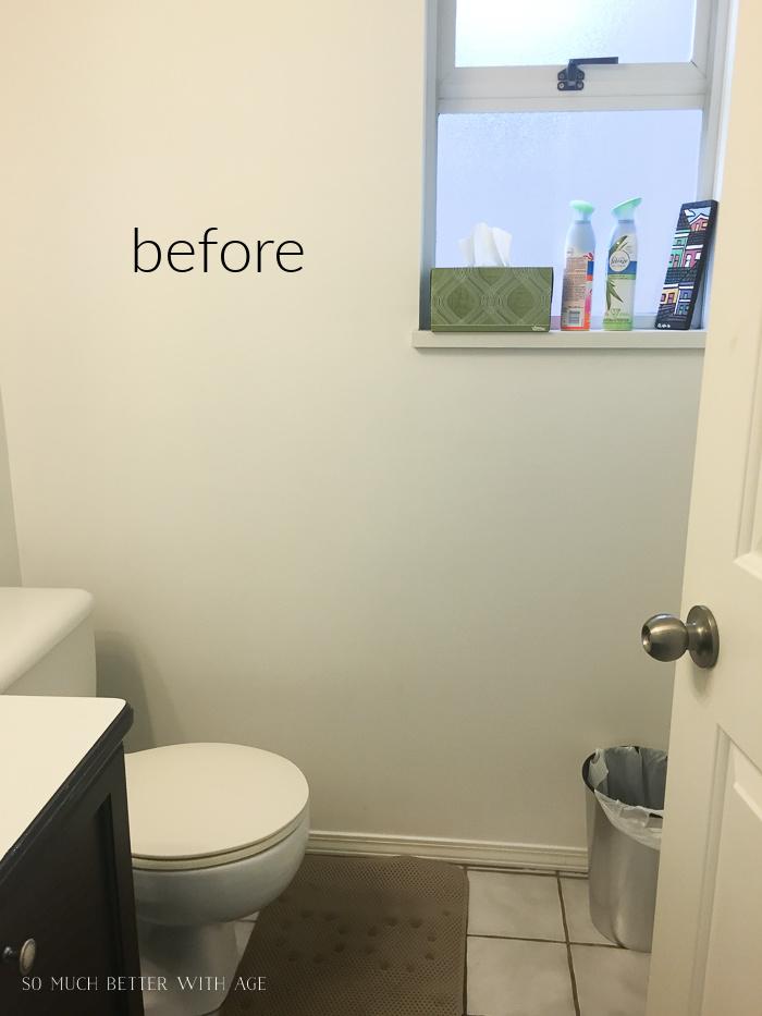Before photo of gross bathroom.