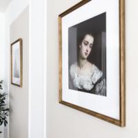 Black Frames to Vintage Gold Frames with Rub n Buff