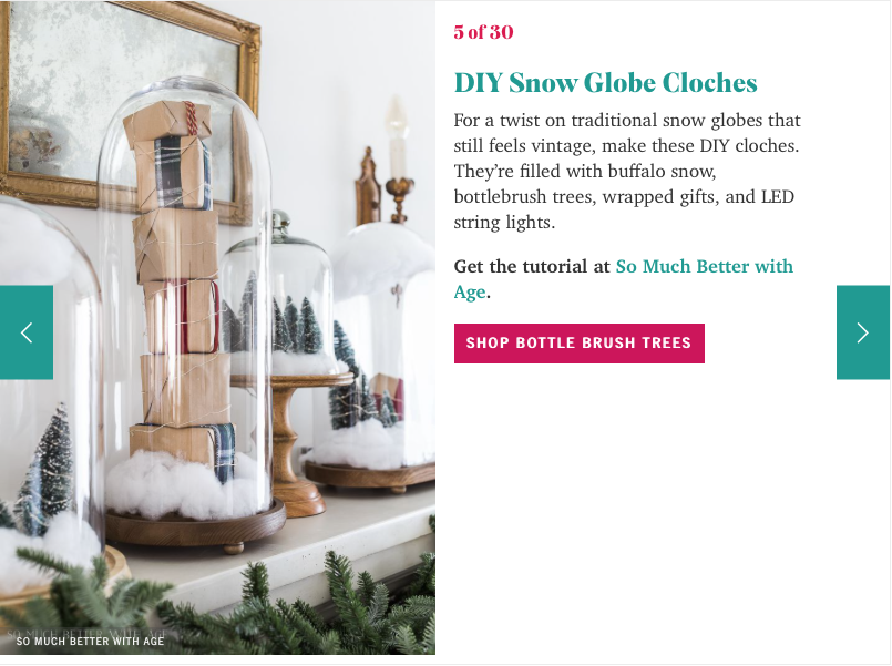 DIY snow globe cloches.