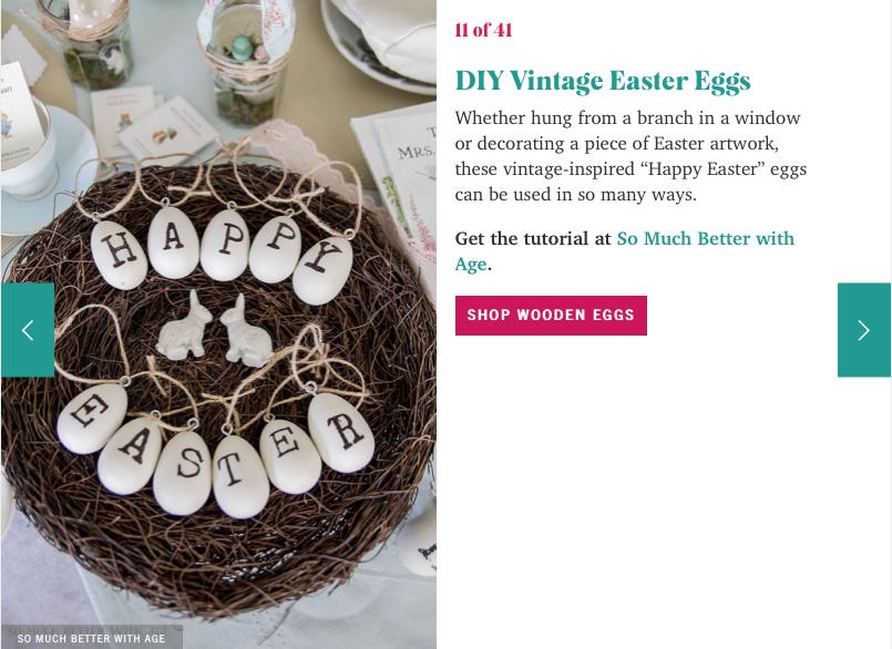 DIY vintage easter eggs.