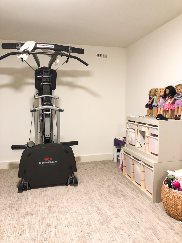 Bowflex in basement.