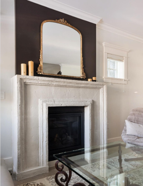 Cast stone fireplace by Masana Stone