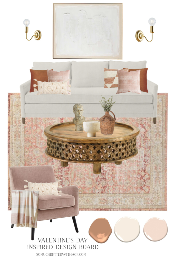 Valentine's Day Inspired Design Board.