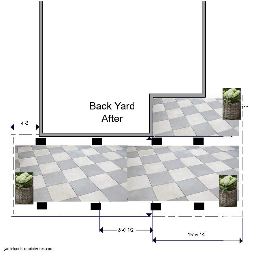 Back yard patio plans.