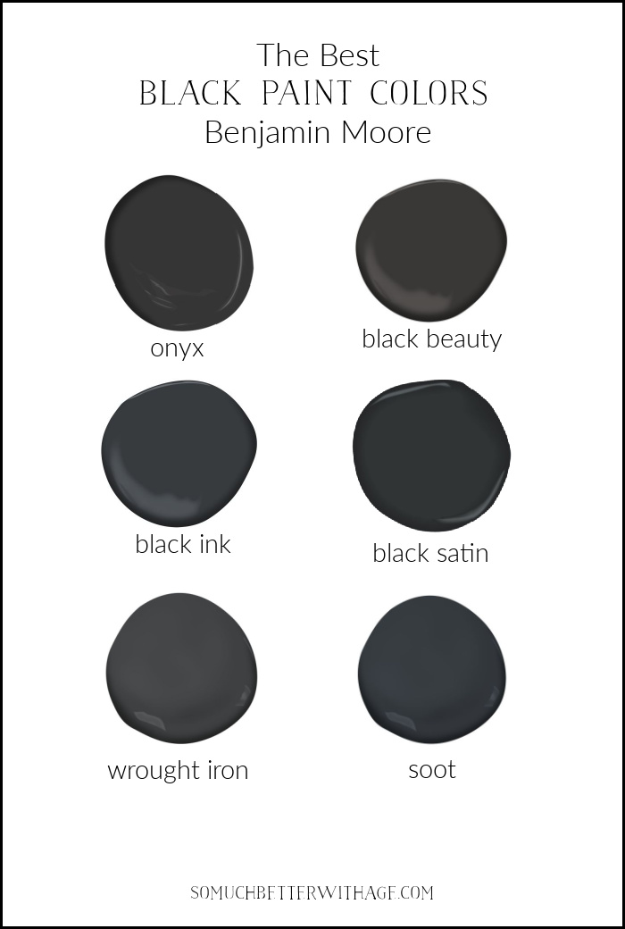 The Best Black Paint Colors from Benjamin Moore.