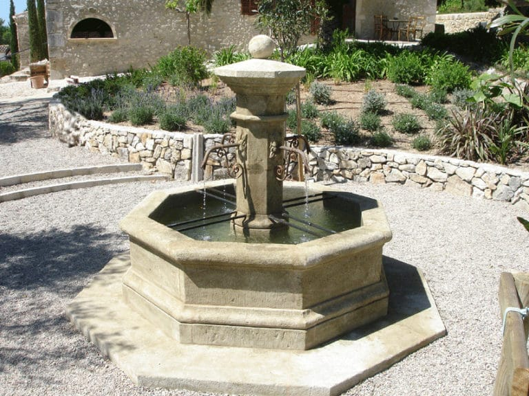 Octagon water fountain.