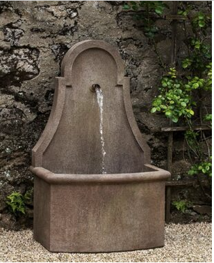 French wall style water fountain.