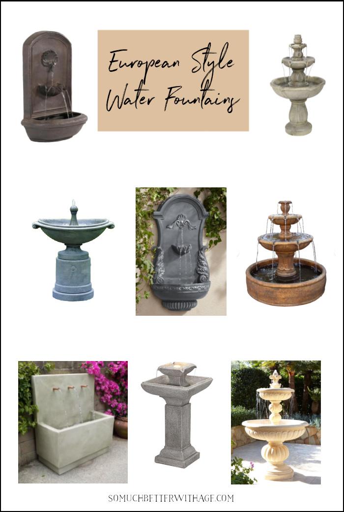 European Style Water Fountains.