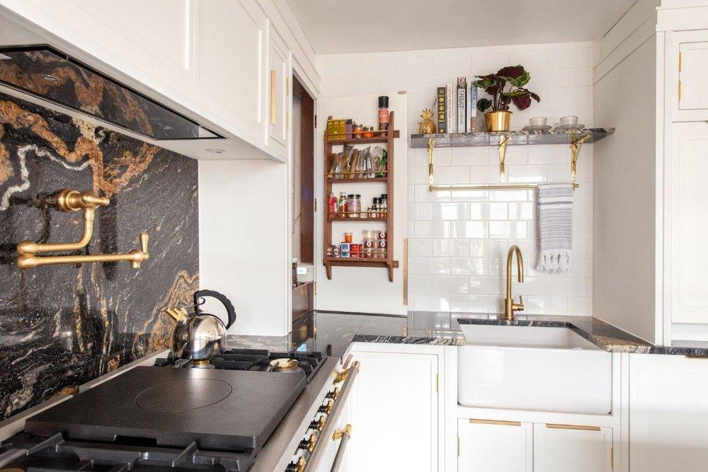European Decorating Style designed by Herringbone Kitchens.