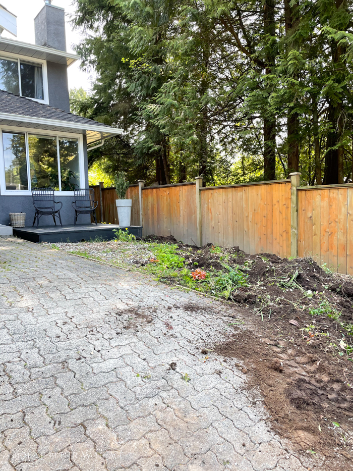 Shrubs removed from front yard.