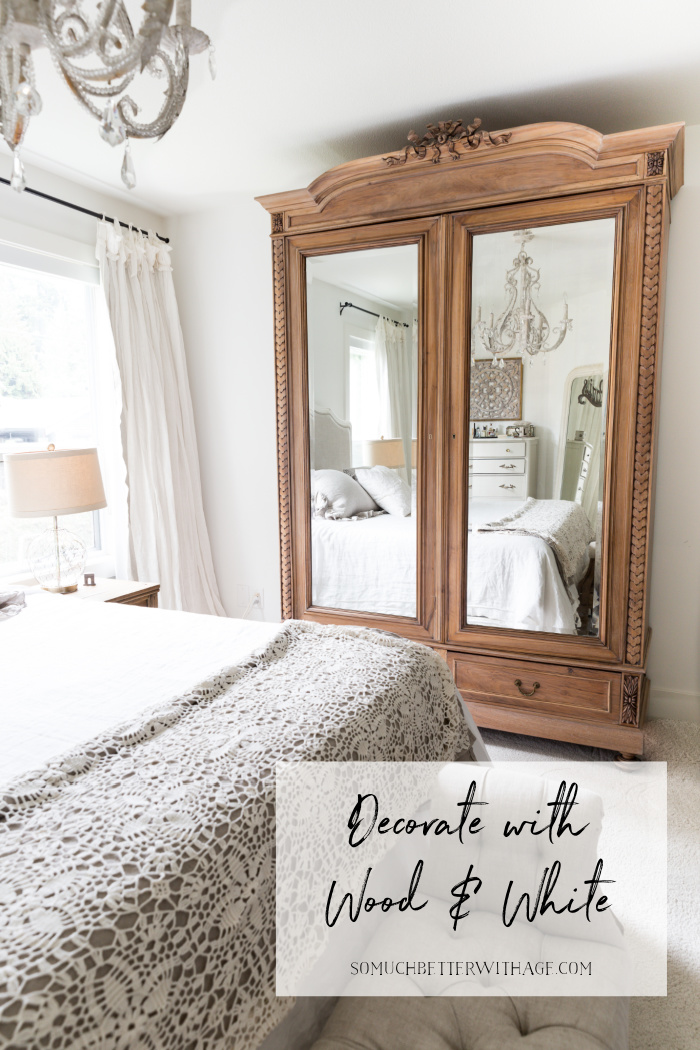 Decorate with wood and white.