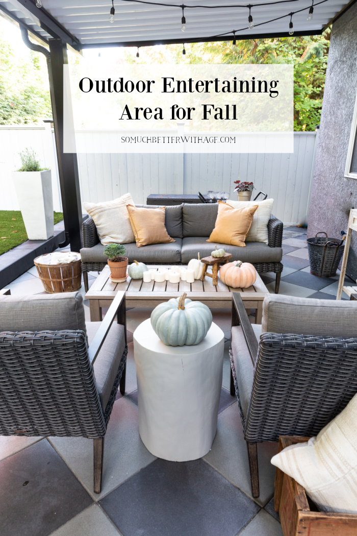Outdoor Entertaining Area for Fall.